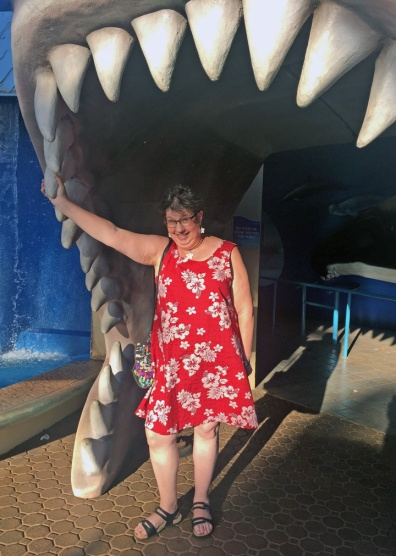 In the shark's mouth at Maui Ocean Center