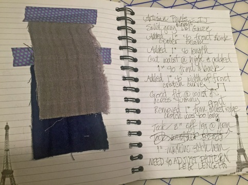 Artisan Pants page