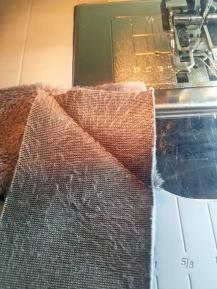 Miter sewn