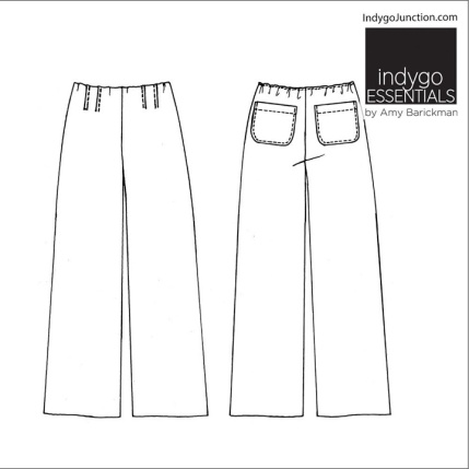 Artisan Pants Back with outline