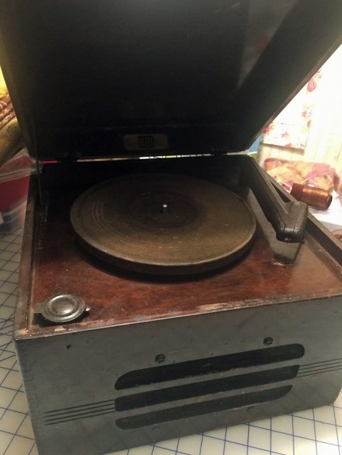 Record Player front open