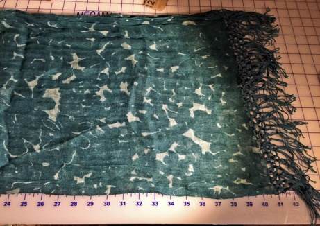 Scarf on Cutting Table
