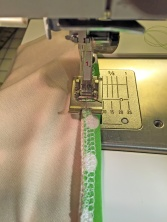 Elastic second stitching