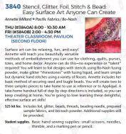 3840 Stencil Foil Glitter Bead Stitch