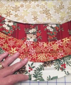 Auditioning napkin fabrics