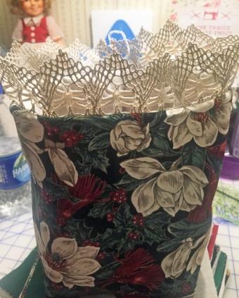 basket before folding cuff