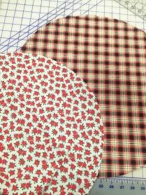 Circles cut for napkins