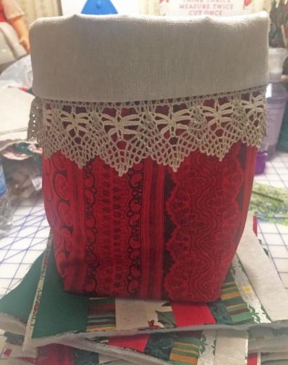 Fabric Basket on potholders
