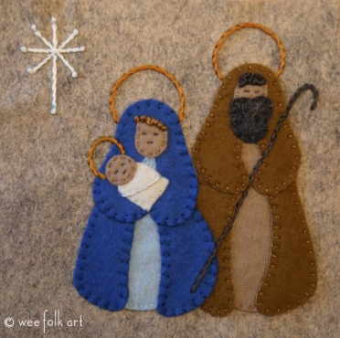 Felt Applique Nativity Block