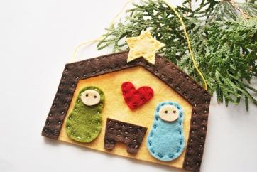 Felt Nativity Ornament - Copy