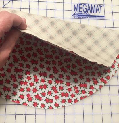 Folding to cut in half
