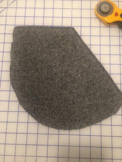 pocket serged on cutting board