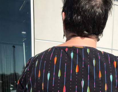 Back neck close-up