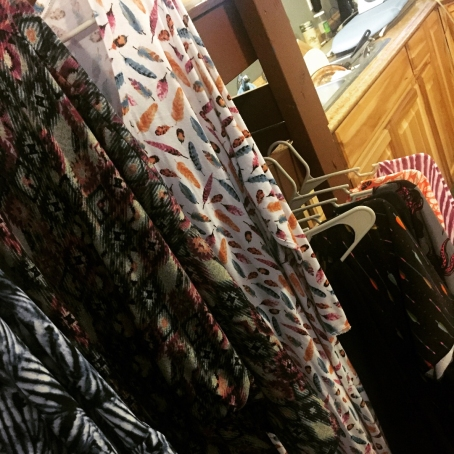 clothes hanging in cabin