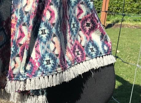 fringe stitching close up