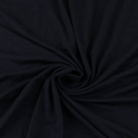 Navy Rayon Jersey Stretch swatch from