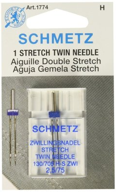 Schmetz Stretch Twin Needle 2.5mm