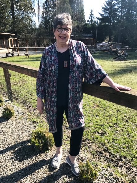 sheep kimono front straight