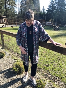sheep kimono head down