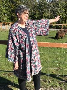 sheep kimono sleeve reach