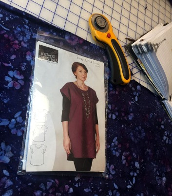 Fabric, pattern, notebook notes